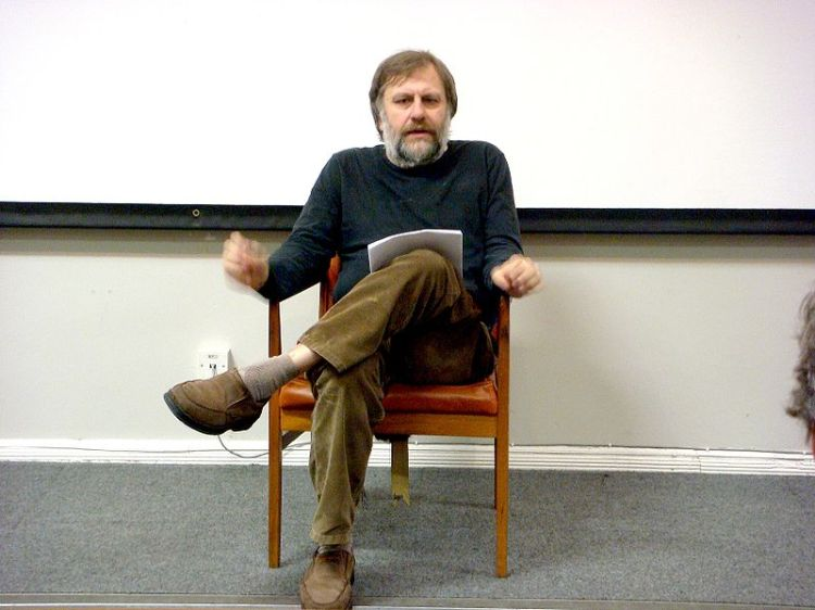 Slovenian philosopher Slavoj Zizek in Liverpool. By Andy Miah