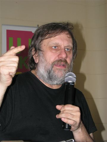 Slavoj Žižek (b. 1949) - Slovenian philosopher, Lacanian Marxist sociologist, psychoanalyst, and cultural critic. By Mariusz Kubik
