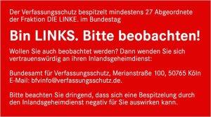 Bin LINKS. Bitte beobachten!